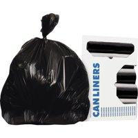 Heritage AccuFit RePrime Can Liners, Black, 50 / Box (Quantity)