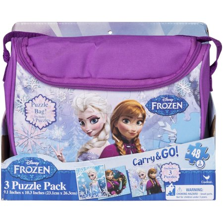 frozen carry and go 3 fashion bag puzzle (48-piece) styles will vary - Frozen Center Pieces