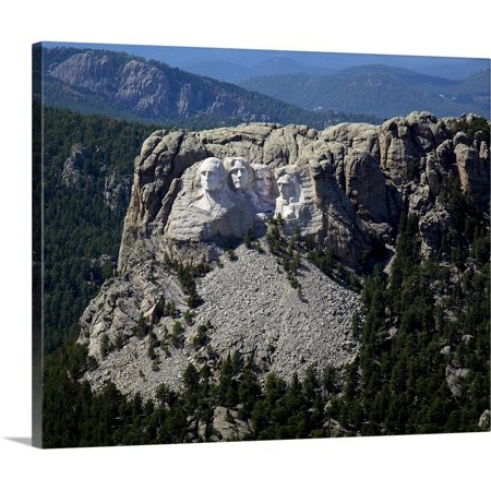 (Great BIG Canvas | Print Collection Premium Thick-Wrap Canvas entitled Aerial View, Mount Rushmore)