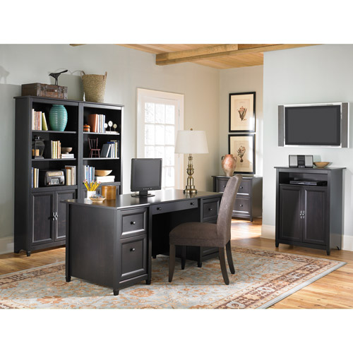 Edge Water Executive Desk with Optional Pieces