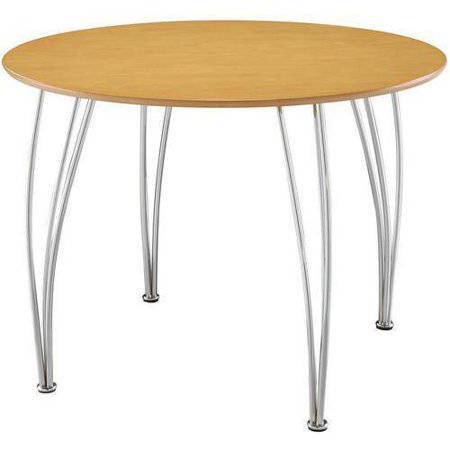 Shell Bentwood Round Dining Table Natural