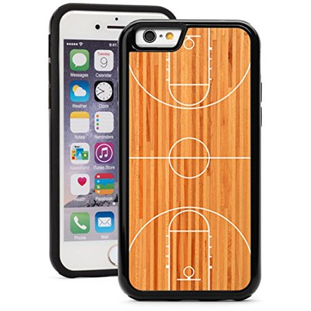 For Apple iPhone Shockproof Impact Hard Soft Case Cover Basketball Court (Black for iPhone 7 Plus) Soft Court Accessories