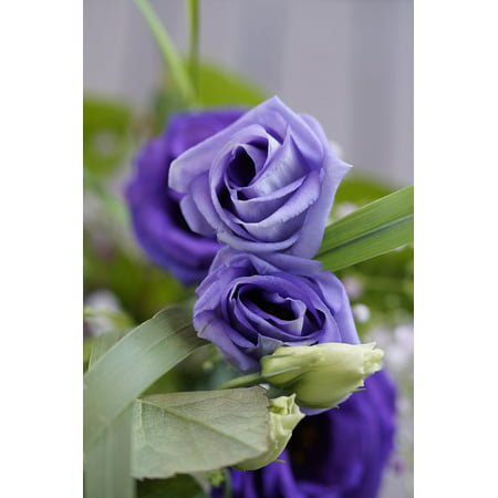 - LAMINATED POSTER Festive Flower Purple Bouquet Bloom Blossom Poster Print 24 x 36