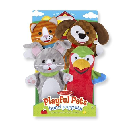 Melissa & Doug Playful Pets Hand Puppets (Set of 4)