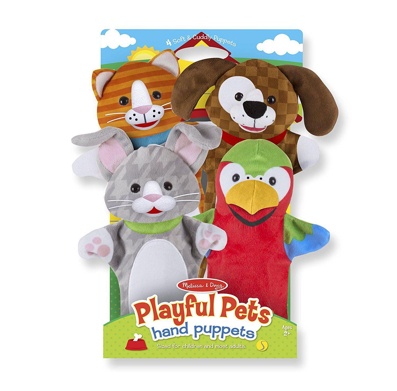 Melissa & Doug Playful Pets Hand Puppets (Set of 4)