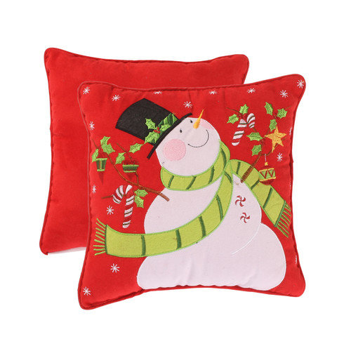 Pillow Perfect Holiday Snowman Corded Accent Pillow