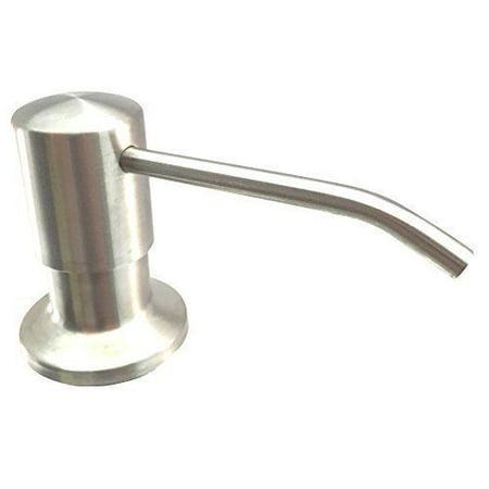 Ultimate Kitchenâ?¢ - Best Stainless Steel Sink Soap Dispenser (Satin) - Large