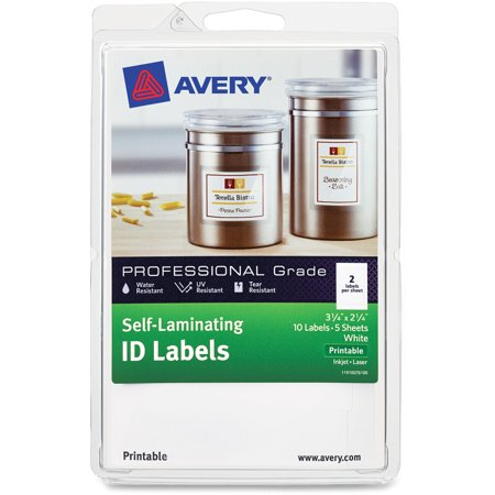avery self laminating id label laser inkjet 4 x 6 sheet 2 1 4 x 3