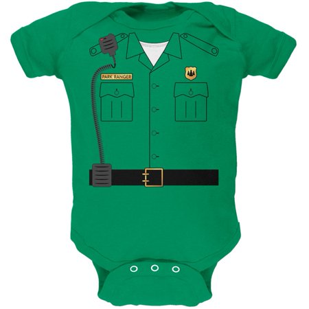 3-4 Month Old Halloween Costumes (Halloween Forest Park Ranger Costume Soft Baby One Piece Kelly Green 3)