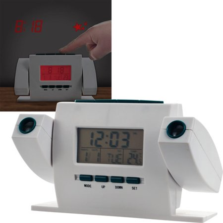 dual projection alarm clock with fm radio. Black Bedroom Furniture Sets. Home Design Ideas