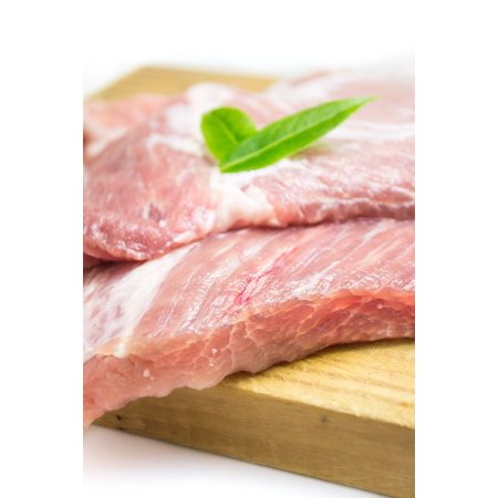 LAMINATED POSTER Meat Raw Meat Pork Power Meat Cutting Food Poster Print 24 x 36 Raw Power Satin