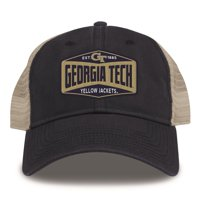 Georgia Tech GT Trucker Hat Washed Super Soft Mesh Cap