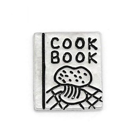 Cook Book Floating Charm For Glass Living Memory Lockets
