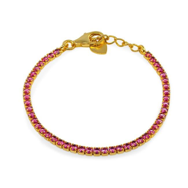 Fronay 1G2120R BecKids Young Girls Mini Red Ruby Tennis Bracelet - image 1 of 1