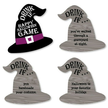 Drink If Game - Happy Halloween - Witch Party Game - 24 Count - Games Baby Hazel Happy Halloween