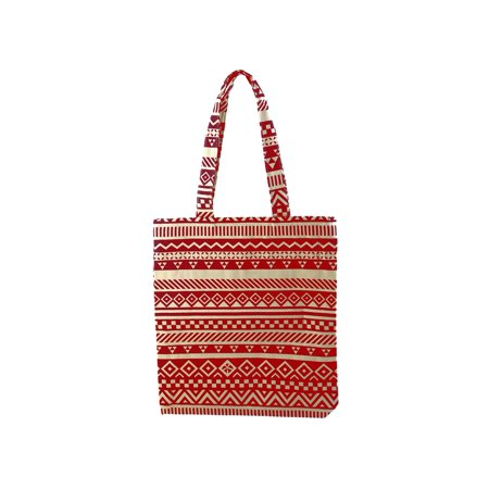 - Outdoor Double Layer Single Shoulder Pack, Beach Hand Pouch Pocket, Environmental Shopping Handbag, Tote Bag Red