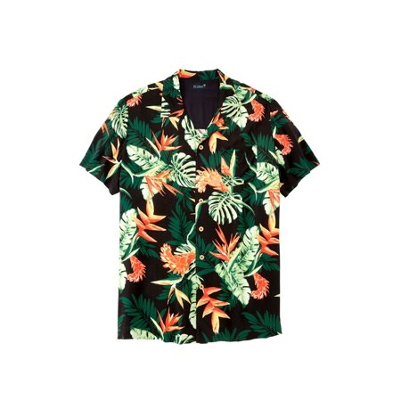 Ks Island Men's Big & Tall Ks Island Tropical Camp Shirt