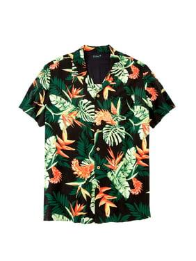 85d0e77a39 Product Image Ks Island Men's Big & Tall Ks Island Tropical Camp Shirt
