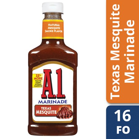 (2 Pack) A 1  Steakhouse Texas Mesquite Marinade, 16 oz Bottle