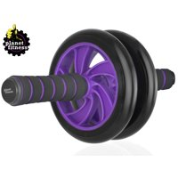 Planet Fitness Deluxe Abdominal Wheel Roller, Dual Wheel Ab Carver