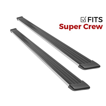 Ionic 61 Series Brite Running Boards 2001-2003 Ford F150 SuperCrew