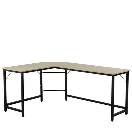 66'' x 49'' x 30'' L-Shaped Computer Desk, 2-Piece Corner Desk Modern Design PC Laptop Computer Table Study Desk, for Home Office Notebook Desk, Electrostatic Powder Coating Surface, S10625