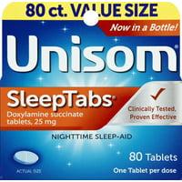 Unisom SleepTabs Doxylamine Succinate Tablets 80ct