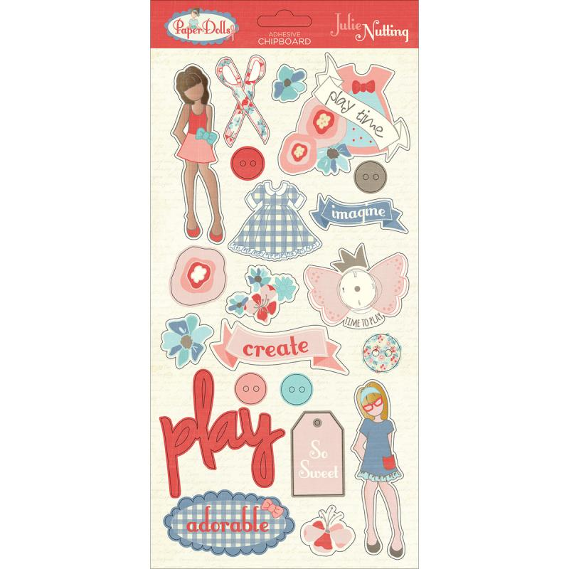 "Julie Nutting Paper Dolls Chipboard, 6"" x 13"""