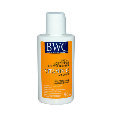 Beauty Without Cruelty 590836 Facial Moisturizer Spf 12 Sunscreen Vitamin C With Coq10 4 Fl Oz