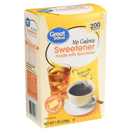 (400 Packets) Great Value Sweetener with Sucralose Packets ()