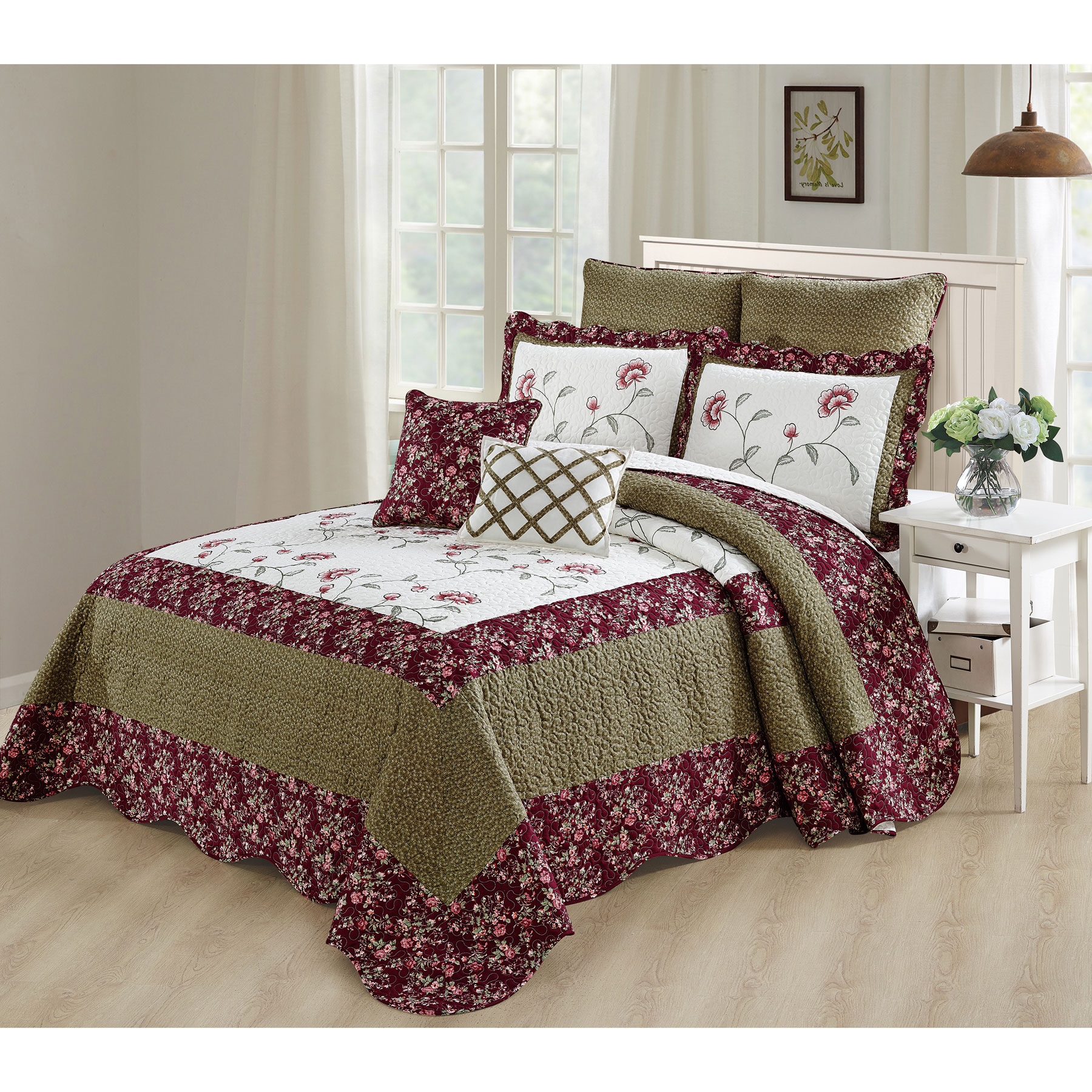Serenta Saigon 7 Piece Coverlet Bed Spread Set