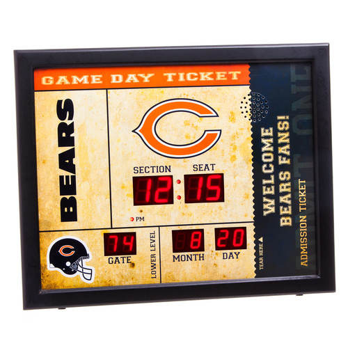 Evergreen Enterprises, Inc NFL Bluetooth Scoreboard Wall Clock