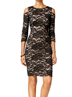 9a10ba4522a9f Product Image Jessica Howard NEW Black Women Size 10 Lace Illusion Cutout Sheath  Dress