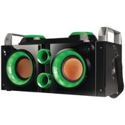 Qfx PBX-505200BT GREEN Rechargeable Bluetooth Party PA Boombox - Green