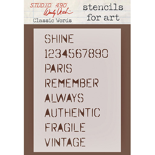 Stampers Anonymous Wendy Vecchi Studio Collection Stencil