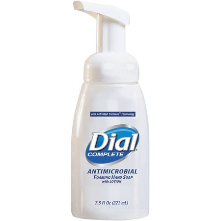 Dial Complete Antimicrobial Healthcare Foaming Hand Soap, 7.5 oz Tabletop Pump, 12/Carton