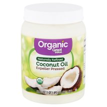 Coconut Oil: Great Value Organic Naturally Refined Coconut Oil