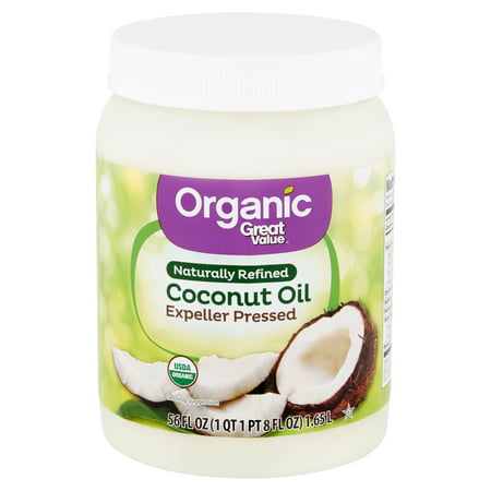 Great Value Organic Naturally Refined Coconut Oil, 56 fl (Best Way To Add Coconut Oil To Diet)