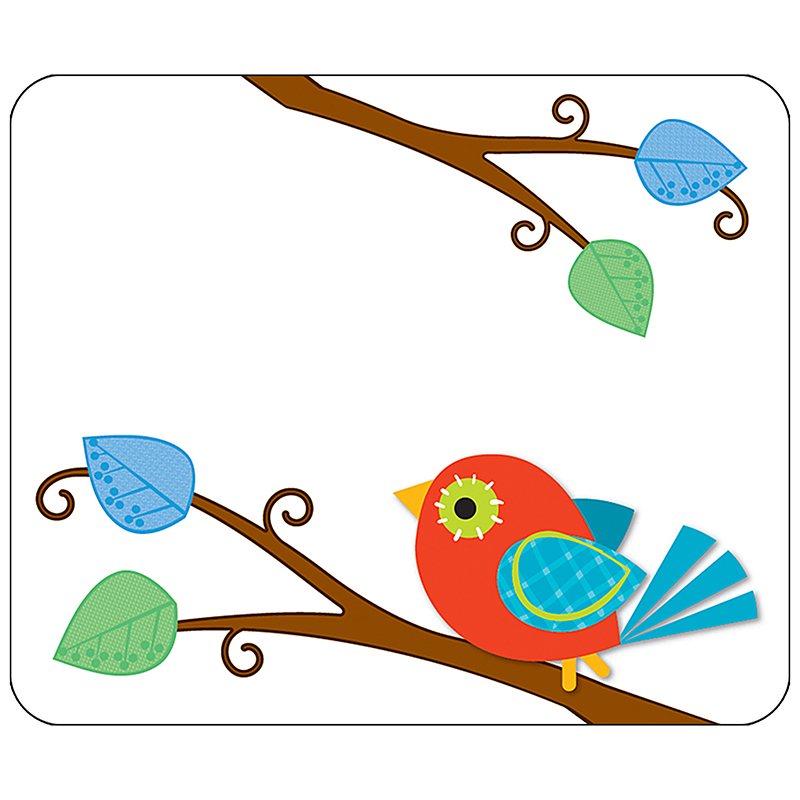 (6 Pk) Boho Birds Name Tags