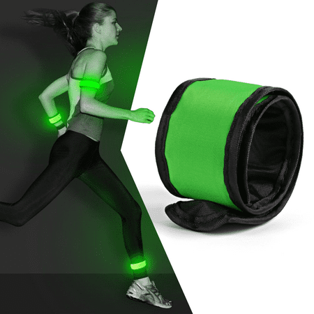 LED Slap Armband Lights Glow Band for Running 35cm