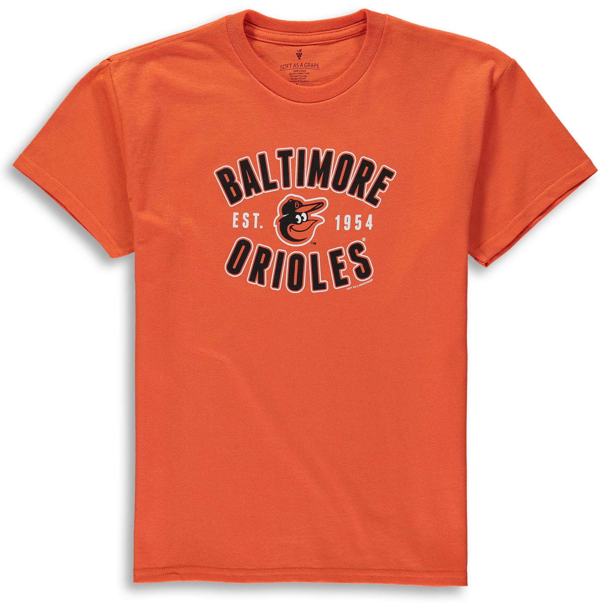Baltimore Orioles Soft as a Grape Youth Cotton Crew Neck T-Shirt - Orange