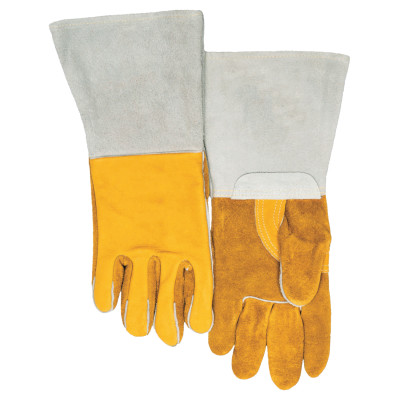 Premium Welding Gloves, Grain Cowhide, X-Large, Gold