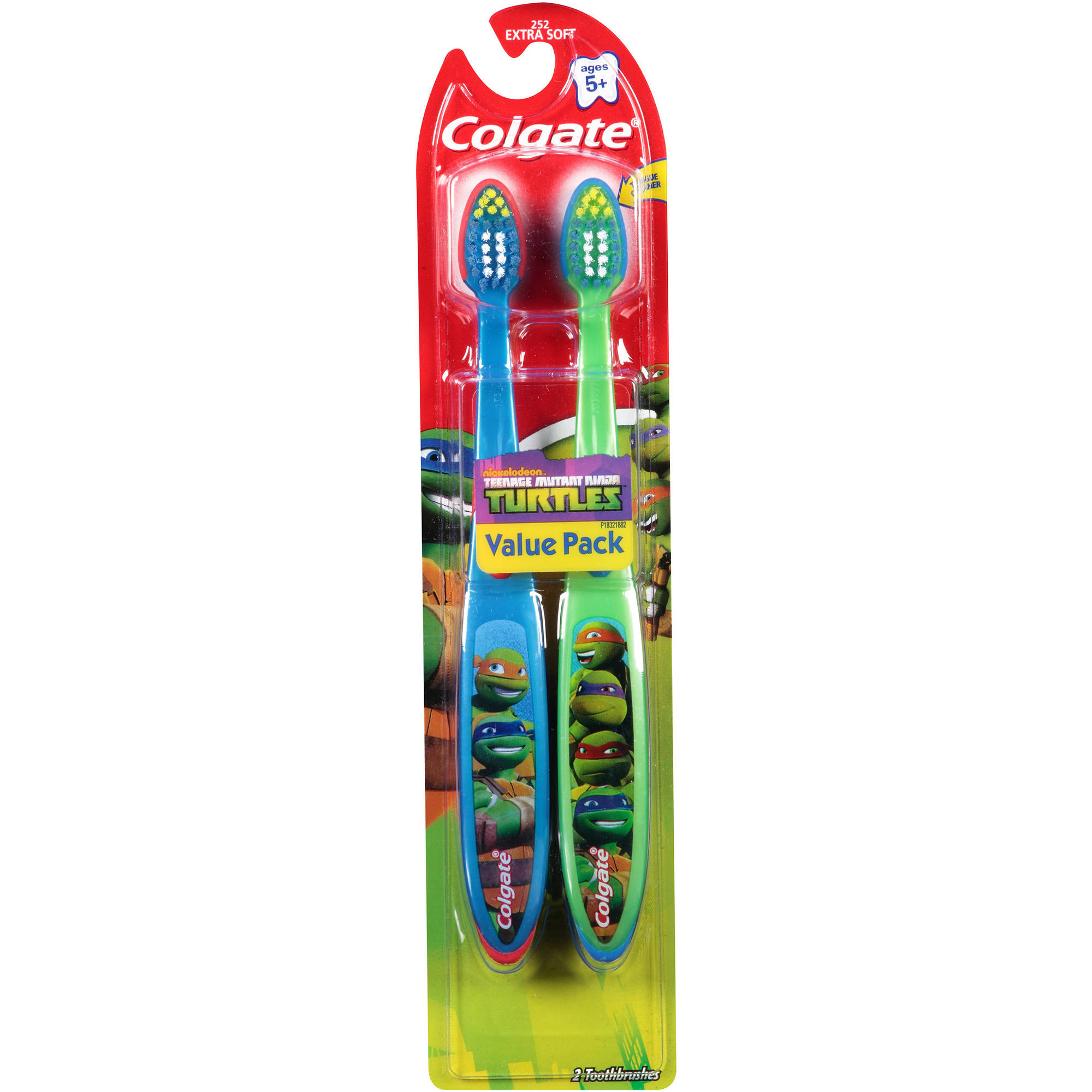 Colgate Nickelodeon Teenage Mutant Ninja Turtles Extra Soft Toothbrushes, 2 count