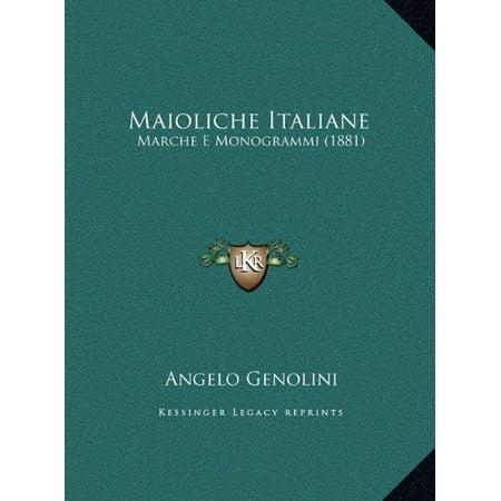 Maioliche Italiane Maioliche Italiane  Marche E Monogrammi  1881  Marche E Monogrammi  1881
