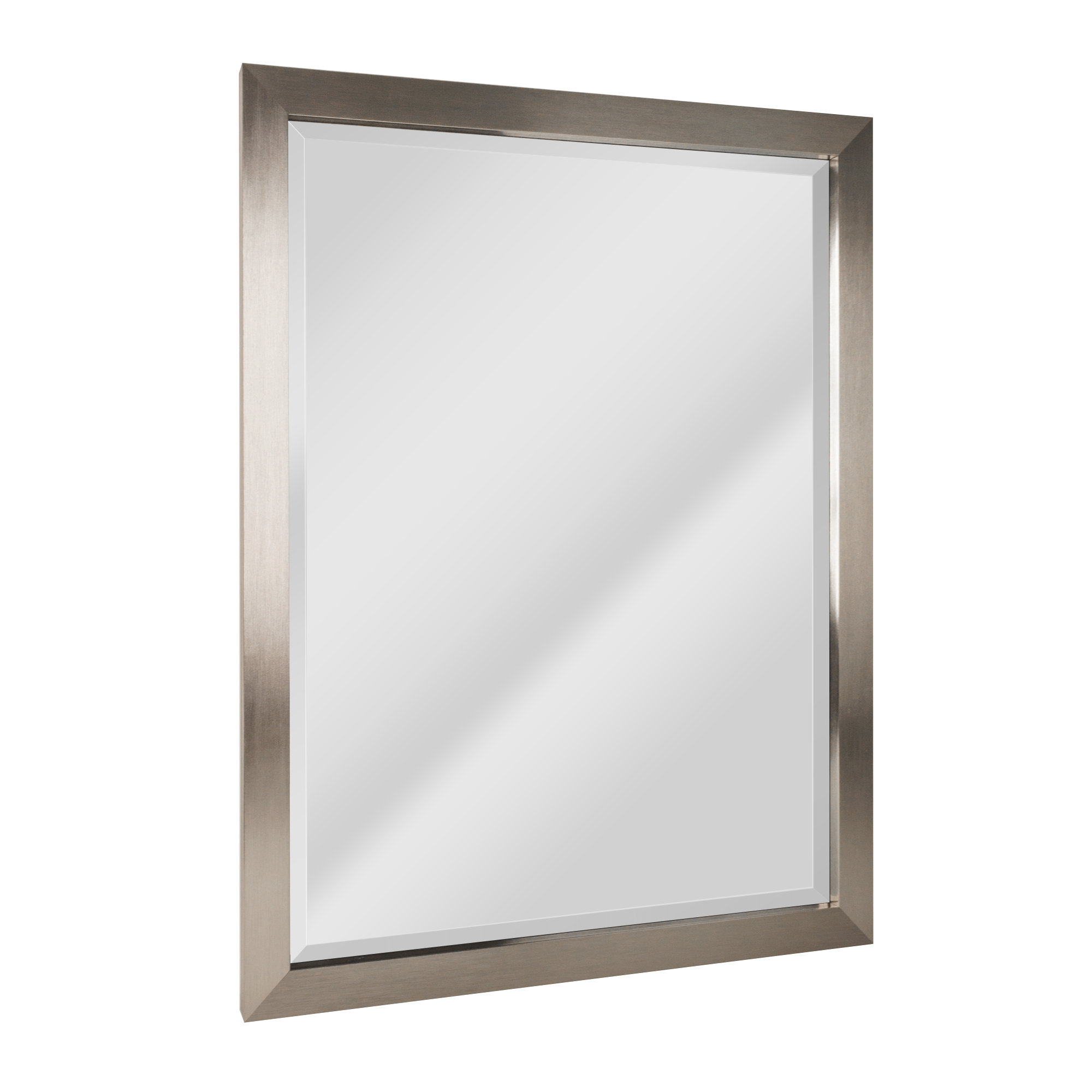 Head West Brushed Nickel Rectangular Framed Beveled Accent Wall Vanity Mirror 34 X 44 Walmart Com Walmart Com