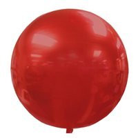 Balloons & Weights 6427Red 3-D Round Sphere Orb Foil Mylar Balloons, Red - 25 Piece