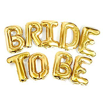 Bachelorette Car Decorations (Big Bride to BE Balloons Gold 16' Letters Banner - Bachelorette Party Decorations Kit - Hen Party Supplies and Favors - Bridal Shower and Hen Party Decorations)