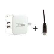 OMNIHIL 2-Port USB Charger w/ USB Cable for OxyLED USB Rechargeable Under Cabinet Lightening
