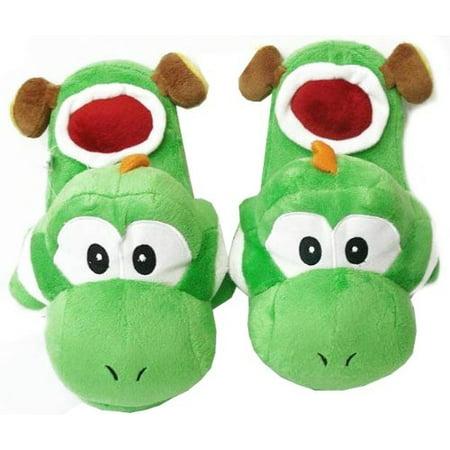Super Mario Brothers : Yoshi Slippers (Green) (Mario Plush Slippers)