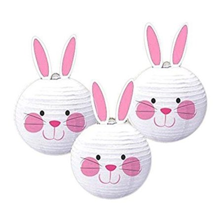 easter bunny paper lanterns 3ct](New Years Decorations)
